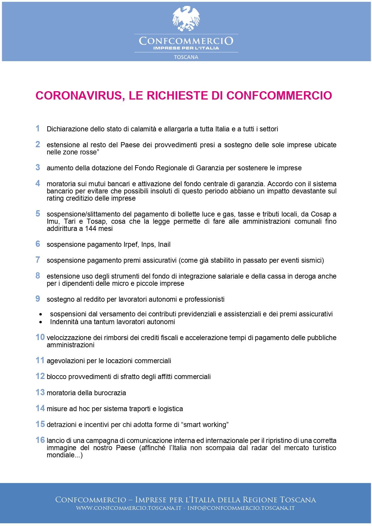 Coronavirus, da Confcommercio la locandina da affiggere ...